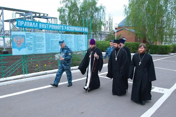Пасхальные службы прошли во всех храмах, расположенных на территории учреждений УИС Воронежской области